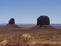 Sikt av 'tumvantena, monumentdal, Arizona-Utah, USA Royaltyfria Bilder