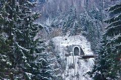 Sikt av tunnelen i Yaremche royaltyfria foton