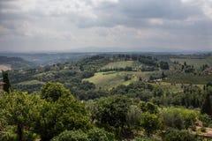 Sikt av Tuscany, Italien Arkivbilder