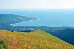 Sikt av udde Doob i Black Sea Arkivfoton