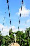 Sikt av upphängningbron Royaltyfri Fotografi