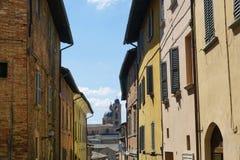 Sikt av Urbino Arkivfoto