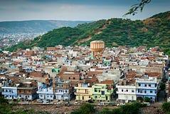 Sikt av utkanten av staden, Jaipur. Royaltyfria Foton