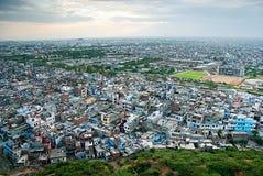 Sikt av utkanten av staden, Jaipur, Rajasthan, Indien Royaltyfri Bild