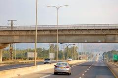 Sikt av vägen i Israel Arkivfoto