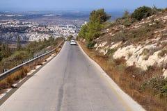 Sikt av vägen i Israel Arkivfoton