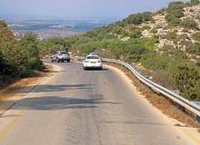 Sikt av vägen i Israel Royaltyfria Bilder