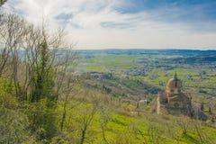 Sikt av Val di Chiana i Tuscany Royaltyfria Foton