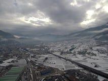 Sikt av valsuganaen i Trentino Alto Adige, Italien Royaltyfria Bilder