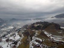 Sikt av valsuganaen i Trentino Alto Adige, Italien Royaltyfri Fotografi