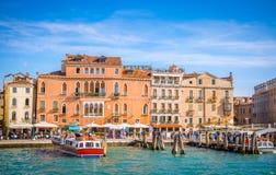 Sikt av Venedig från havet, Veneto, Italien Arkivfoto