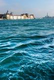Sikt av Venedig från kanalen Royaltyfria Foton