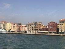 Sikt av Venedig från skeppet royaltyfri bild
