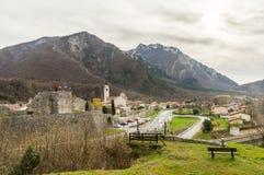 Sikt av Venzone, Italien arkivbilder