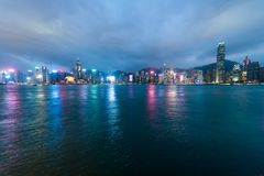 Sikt av Victoria Harbour, Hong Kong royaltyfri fotografi