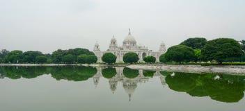 Sikt av Victoria Memorial i Kolkata royaltyfria bilder