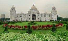 Sikt av Victoria Memorial i Kolkata Arkivbilder