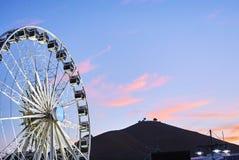 Sikt av Victoria och den alfred strandhamnen på solnedgången Arkivbilder