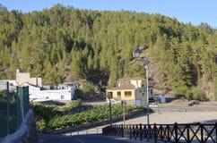 Sikt av Vilaflor, Tenerife, kanariefågelöar Royaltyfria Foton