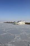Sikt av vintermarina i Odessa Royaltyfria Foton