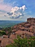 Sikt av Volterra Royaltyfria Bilder