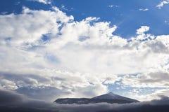 Sikt av vulkan Teide i Tenerife, Spanien Arkivfoto