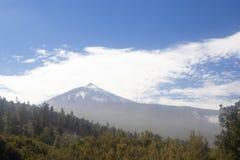 Sikt av vulkan Teide i Tenerife, Spanien Arkivfoton