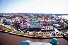 Sikt av Vyborgen med höjd Fotografering för Bildbyråer