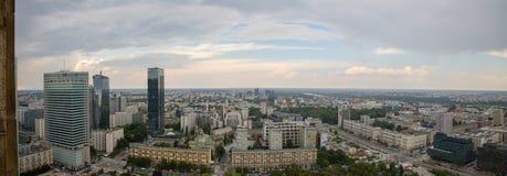 Sikt av Warszawa från slott av vetenskap och kultur, Polen, Europa royaltyfri bild