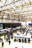 Sikt av Waterloo den internationella stationen, London, England royaltyfri foto