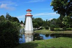 Sikt av Wellington Park i Simcoe, Ontario Arkivfoto