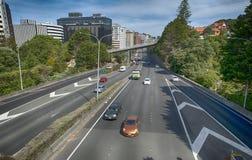 Sikt av Wellington Urban Motorway royaltyfria bilder