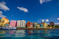 Sikt av Willemstad Curacao nederländska Antillerna Arkivbilder