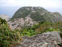 Sikt av Windwardside, Saba Royaltyfria Foton