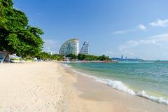 Sikt av Wong Amat Beach Pattaya Royaltyfri Fotografi