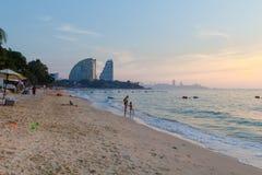 Sikt av Wong Amat Beach Pattaya Royaltyfri Bild
