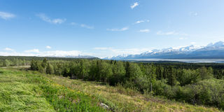 Sikt av Wrangellsen Royaltyfri Fotografi