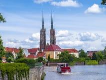 Sikt av Wroclaw Arkivfoton