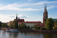Sikt av Wroclaw Royaltyfri Foto
