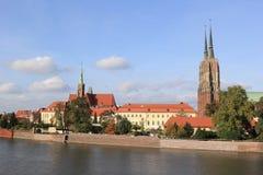Sikt av Wroclaw poland Fotografering för Bildbyråer