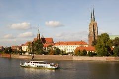 Sikt av Wroclaw, Polen Royaltyfri Foto
