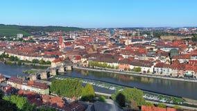 Sikt av Wurzburg, Tyskland Royaltyfri Foto