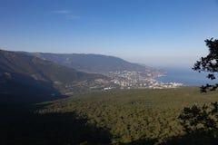 Sikt av Yalta crimea arkivbilder