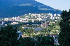 Sikt av Yalta i Krim Arkivfoto