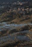 Sikt av Yuan Yang Rice terrasser Royaltyfria Bilder