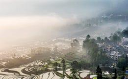 Sikt av Yuanyang, Yunnan Royaltyfri Fotografi