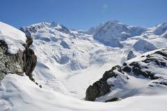 Sikt av zermatten för monterosa grupp royaltyfri bild
