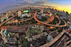Sikt Bangkok Arkivfoton