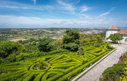 Sikt cio de Seteais från för Seteais slott-/Palà ¡ i Sintra, Portugal Royaltyfri Foto