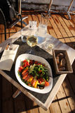 sikt för öppen restaurang för luftlunch övre Royaltyfri Bild